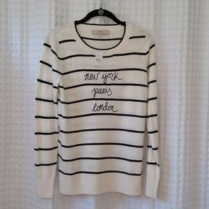 LOFT New York London Paris Striped Sweater